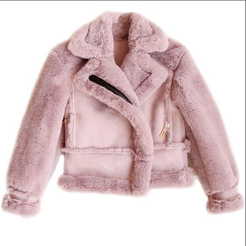 Furry Children Clothing Baby Toddler Kids Infant Girls Boys Autumn Winter Faux Fur Coat Jacket Thick Warm Outwear Clothes N361 children autumn and winter warm clothes boys and girls thick cashmere sweaters