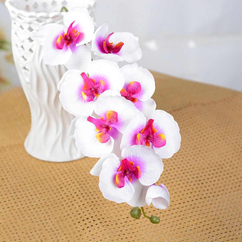 1Pcs Vlinder Orchidee Kunstbloemen Bloem Hoofd Party Home Decor Kerst Bruiloft Decoratie Accessoires Nep Bloem 52017