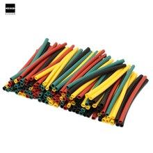 328Pcs 8 sizes 2:1 Heat Shrink Tubing Polyolefin Halogen-Free Heat Shrink Tubing Tube Assortment Sleeving Wrap Wire Kit