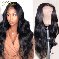 Nadula Lace Frontal Wig 13*4/6 Brazilian Body Wave Wig Medium Brown Lace Front Human Hair Wigs Swiss Lace Wigs For Women