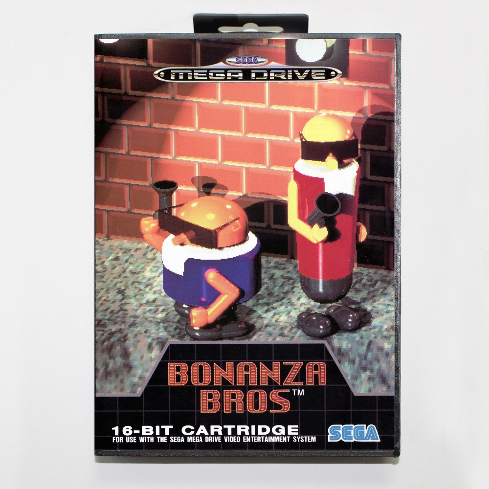 Bonanza Bros Game Cartridge 16 bit MD Game Card With Retail Box For Sega Mega Drive For Genesis