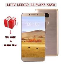 """기존 letv leeco ram 6g rom 64g 금어초 821 le max3 x850 fdd 4g 휴대 전화 5.7 """"인치 2560x1440 3900 mah pk x820 x900 mobil"""