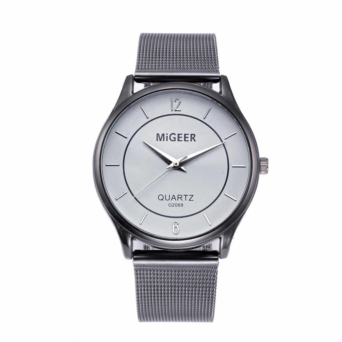 גברים של שעון אופנה reloj hombre נירוסטה קוורץ שעון רשת גברים של יד שעונים relogio masculino erkek kol saati