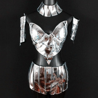 Jazz Dance Costumes Silver Sequin Costume Pole Dance Clothing Dj Ds Gogo Singer Nightclub Stage Outfits Dancewear Women DNV10295
