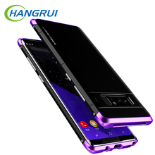 Фотография Hangrui for samsung galaxy note 8 case luxury hybrid Metal aluminum PC ultra thin anti-knock back cover for galaxy note 8 case