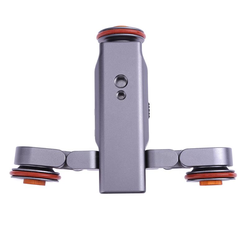 Auto Dolly Wireless Remote Control Electric Motorized Pulley Car Slider Pulley Rolling Skater With 1/4Inch 3/8Inch Screw Adapter new 4 wheels mobile rolling sliding dolly stabilizer skater slider motorized push cart tractor for gopro 5 4 3 3 2 1 camera
