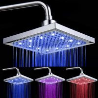 LED Shower Head Water Power RGB Handheld Temperature Sensor Light Shower Head No Battery Bathroom Accessories Energy Saving