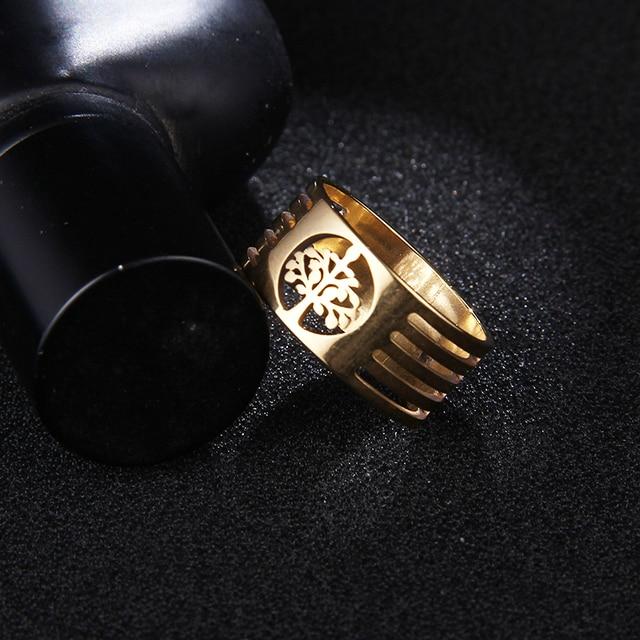 Мужские кольца в стиле панк cacana золотистые/серебристые из