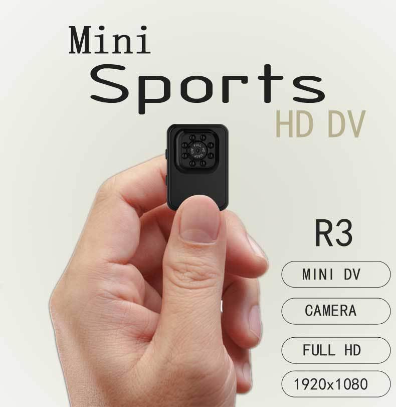 R3 Mini camera HD 1080P Sports Camera Night Vision Upgrade Mini Camcorder Action Camera Sports DV 110 degree wide angle