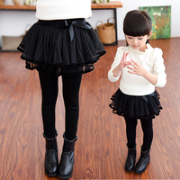 2017 New Autumn Girls Leggings Children Skirt Pants Cake Skirt Baby Kids Winter Warm Trousers Child