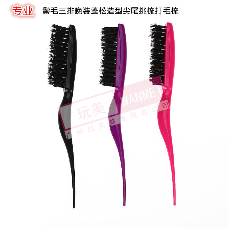 Hair fleeciness modelling type comb the hair length, pointed tail comb bristle hair on row of baotou evening wear plastic comb
