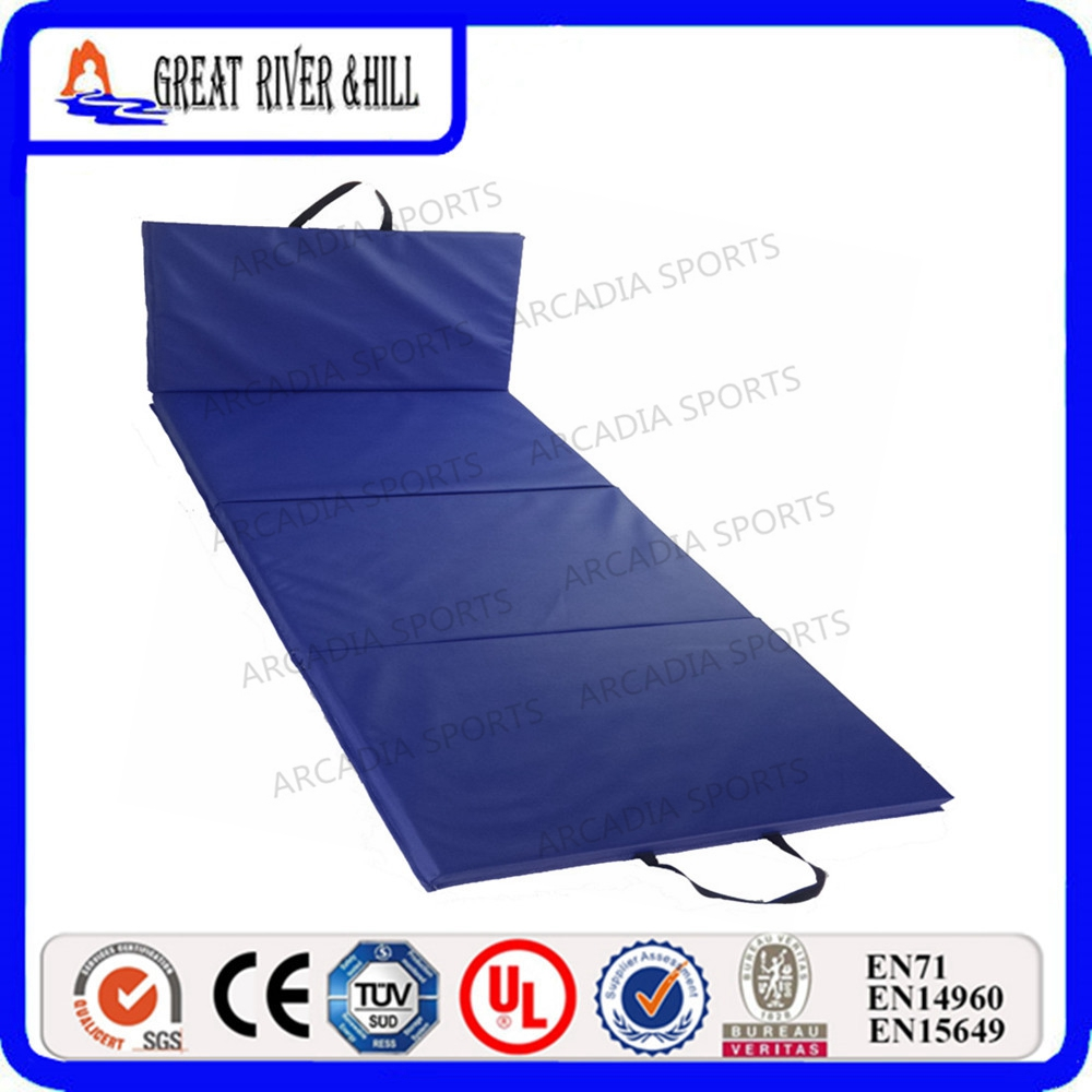 wholesale gymnastics PVC Exercise landing mat crash mats 2.4mx1.2mx5cm gymnastics mat thick four folding panel fitness exercise 2 4mx1 2mx3cm