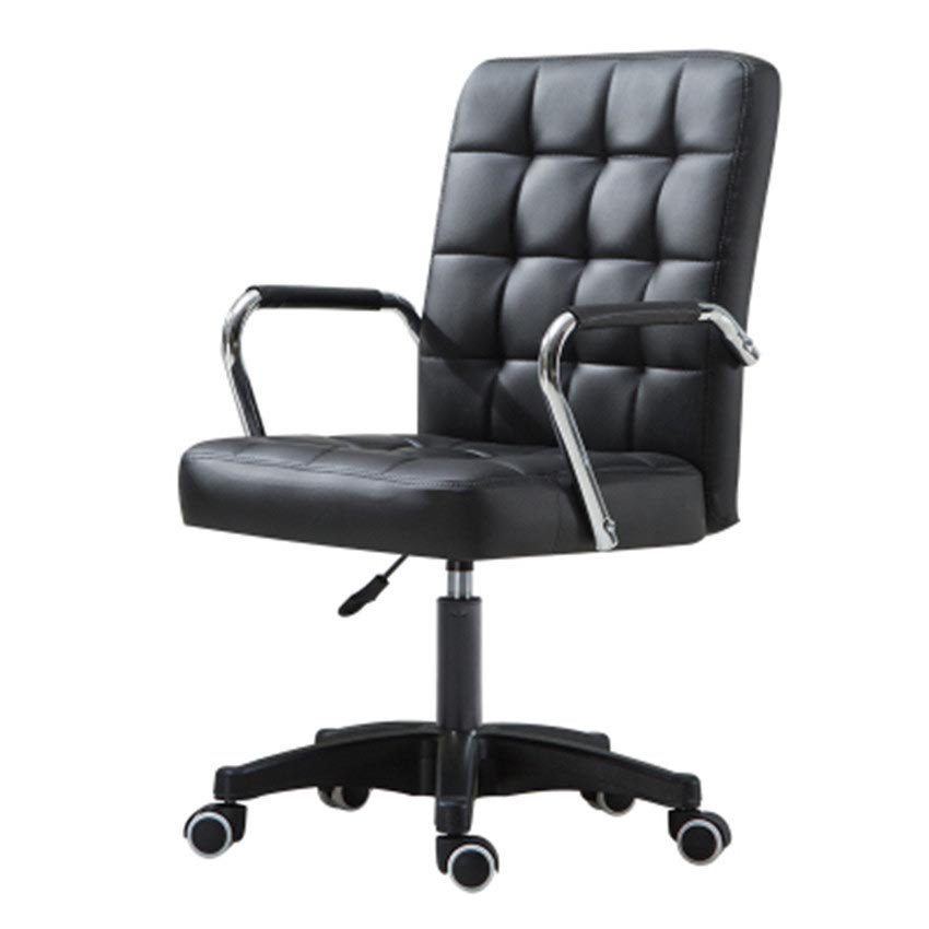 Office Furniture Height Adjustable Rotatable Computer Chair Armrest Leather Padded Meeting Conference Ergonomic Office Chair