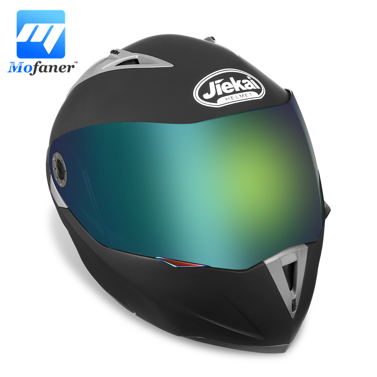 Mofaner Matte Black Motocross Helmet Dot Dual Visor Flip Up Motorcycle Full Face Helmet For Motorbike Racing Motocross