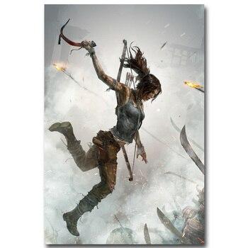 Шелковый Плакат Гобелен Tomb Raider Лара Крофт В Ассортименте 5