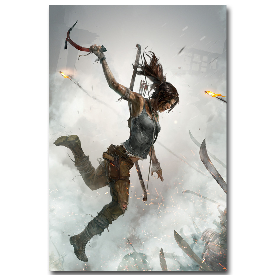 Rise Of The Tomb Raider Art Silk Fabric: NICOLESHENTING Tomb Raider Lara Croft Art Silk Fabric