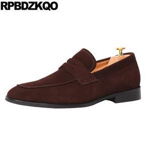 6f3a90b75541 RPBDZKQO Luxury Shoes Men Loafers Genuine Suede Casual