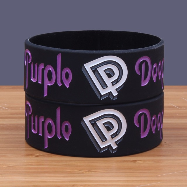 New Wide Version Deep Purple Band Silicone Bracelets Heavy Metal Rock Silicon Wristband Cool Fashion Item Por Jerwerly