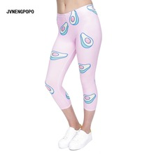 New Fashion Digital Printed Fitness Leggings 3 4 Women Sporting Cropped Trousers Pants Female Soft Comfortable