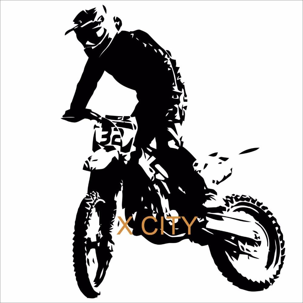 Toko Online Motocross Sepeda Motor Stiker Dinding Vinyl Decal