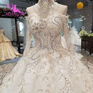 Image 3 - AIJINGYU Wedding Dresses India Slim Gowns female Online Long Train Gown Pearl Dress Floor Length
