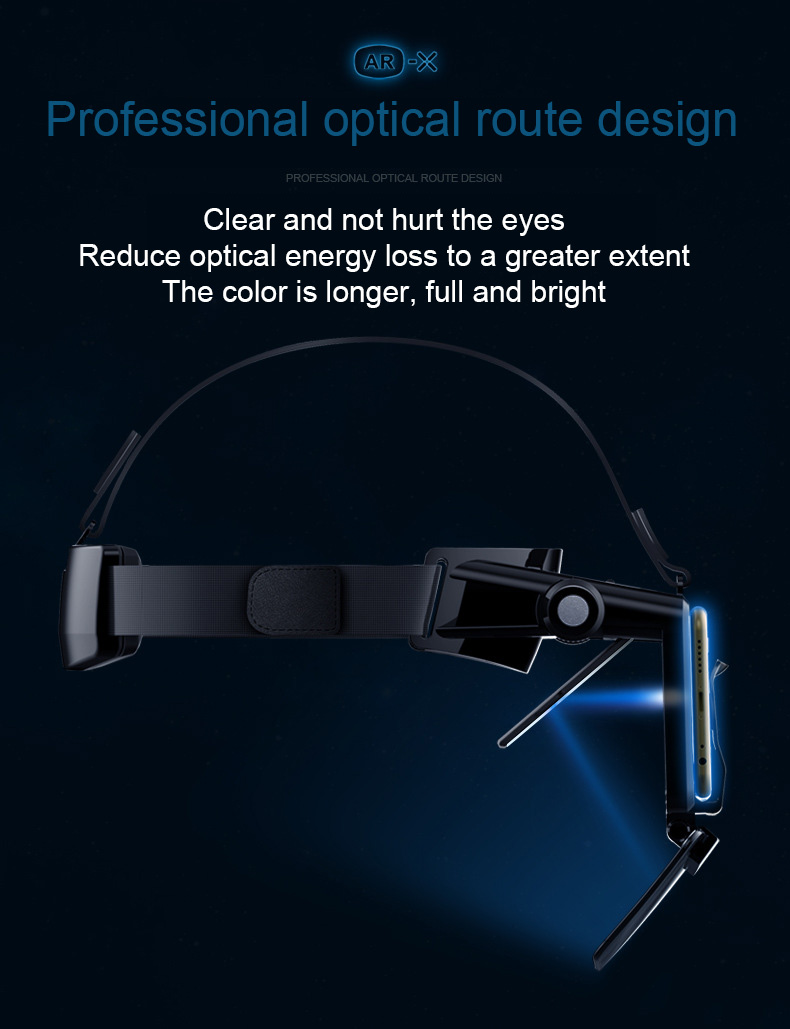 FIIT VR AR-X Glasses Helmet 3D VR Glasses Virtual Reality Headset For Smartphone Cardboard Casque Smart Phone Android 3 D Lense
