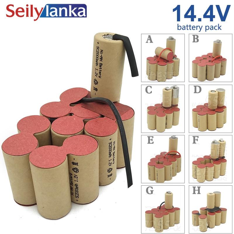 14 4V 4000mAh Ni MH battery pack Welding custom tool cd for Black Decker Bosch Dewalt