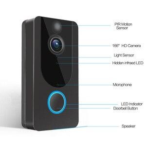 Image 4 - GEEKAM 1080P WiFi וידאו פעמון V7 חכם IP וידאו אינטרקום משלוח ענן הקלטת עבור דירה IR מעורר אבטחה אלחוטית מצלמה