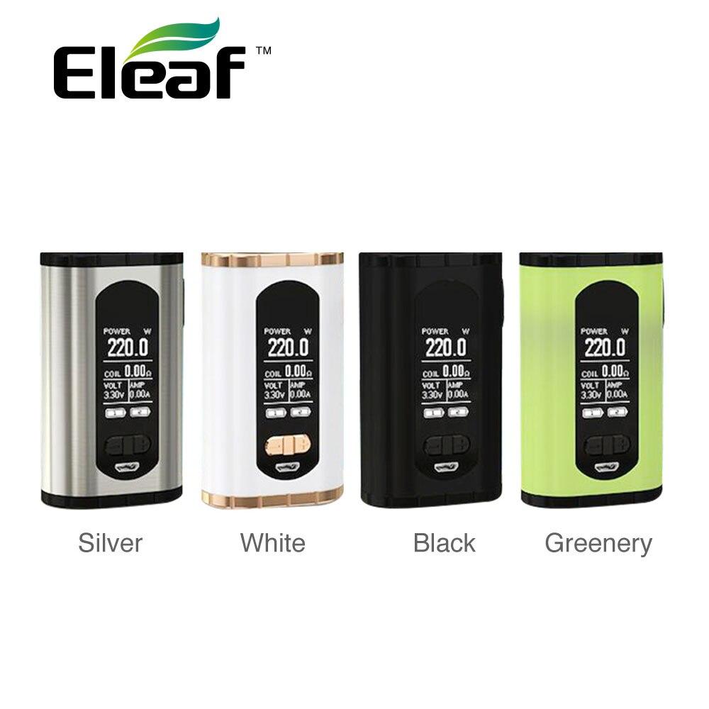 Originale Eleaf Richiamare TC Box MOD Max 200 W di Uscita e 1.3 Pollice ampio Display Misura Eleaf ELLO T Atomizzatore Vape Mod Nessuna Batteria 18650