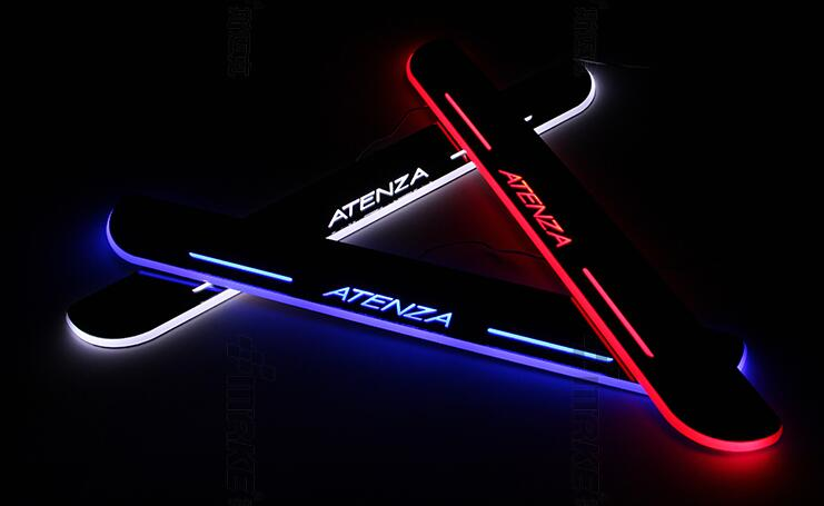 eOsuns LED moving door scuff Nerf Bars & Running Boards door sill plate overlays linings for mazda 6 atenza 2013-15 moving light sports car door sill scuff plate guard sills for 2014 mazda 6 atenza m6