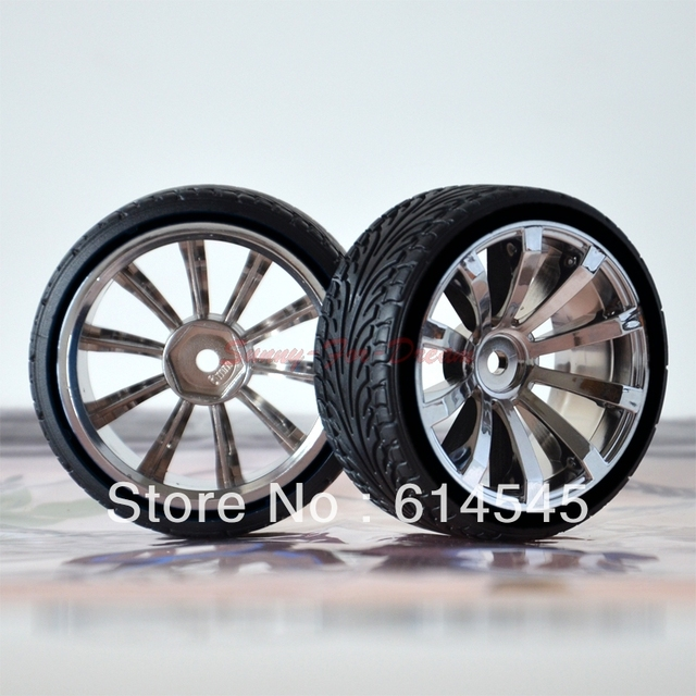 Drift Car 4pcs Rc 1 10th 6mm Offset 605 5013 Hard Tires Tyres
