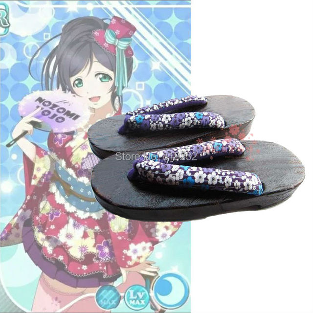 LoveLive! Love Live Geta Clog Shoes Slippers Anime Cosplay Shoes Costumes Nine Members