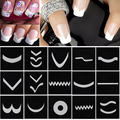 18 Sheets/Set French Manicure DIY Nail Art Tips Guides Stickers Stencil Strip #M01615