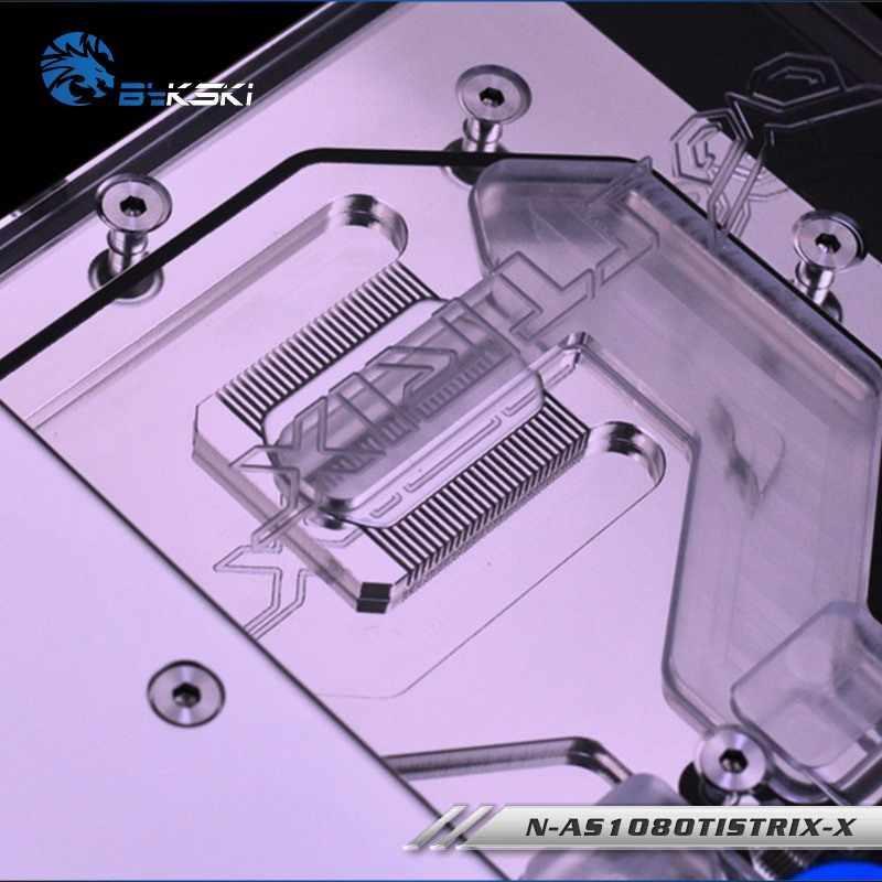 Bykski, tarjeta gráfica, bloque de agua para ASUS ROG-STRIX-GTX1080TI-O11G-GAMING/1080/1070-O8G-GAMING/1070TI, radiador de cobertura completa