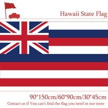 Free shipping 3x5ft Hawaii Flag 90*150cm 60*90cm Custom High-quality 100d Polyester 30*45cm Car