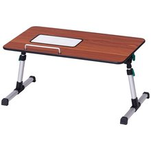 Portable Height Adjustable Laptop Bed Tray Table Laptop Desk Standing Desk for Office Work TV Tray for Snacking HW56702WA(China)