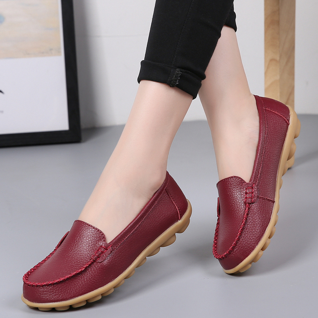 0f74ba46abc1 2018 Autumn Loafers Women Shoes Fashion Moccasins Slip on Ladies Footwear Female  Soft Summer Casual Shoes Women Flats VT23