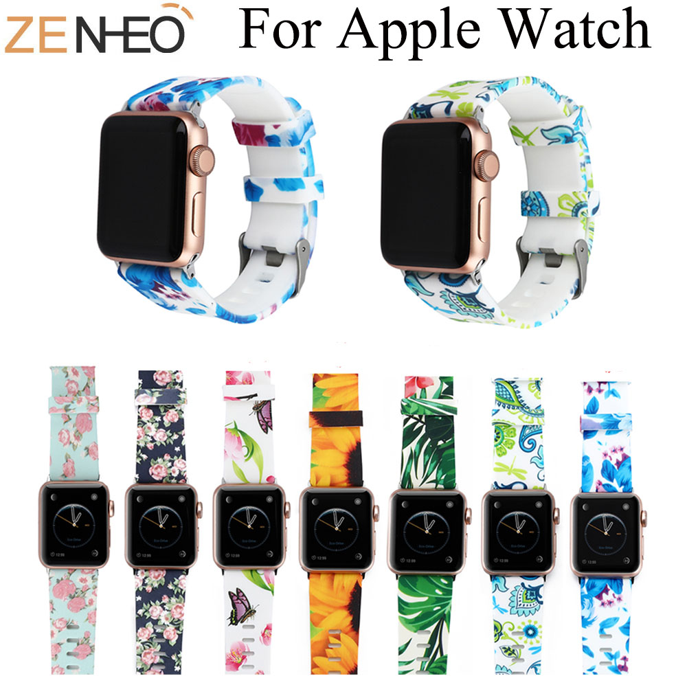 Silicone Strap For Apple Watch Band 42mm Bracelet 40mm 44mm For Apple Watch Strap For Iwatch Band 4/3/2 1 38MM Sport Wristbands