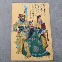 China old Tibet silk Thangka like hanging painting fengshui guan gong 60x90m