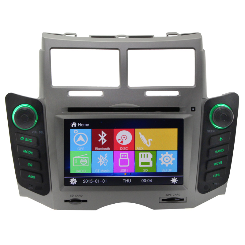 For Toyota Yaris 6 Inch Automotivo Indash GPS Navi radio bluetooth Radio Bluetooth Rear Camera Car