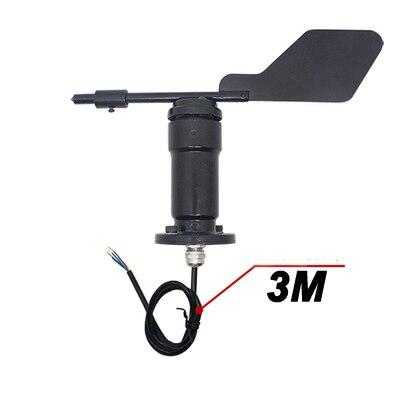 Livraison gratuite 1 pc métal 360 degrés vent direction capteur transmetteur RS485 modbus-rtu extérieur météo capteur analogique