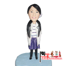 Brinquedos Rushed No Minions Anime 2016 Top Fashion Wedding Statue Birthday Custom Polymer Clay Figurine Statues Cake Topper