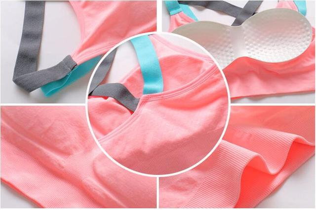 Full Cup Breathable Cross Back Push Up Workout Bra For women