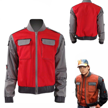 Hot Movie Back To The Future Cosplay Costumes Jr Marlene Seamus Marty McFly Jacket Red Outwear Coat for women&men