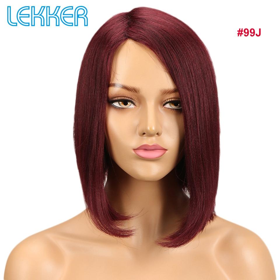 Lekker Hair Wigs Human Hair Short Straight Wigs For Black White Women Remy Human Hair Wig
