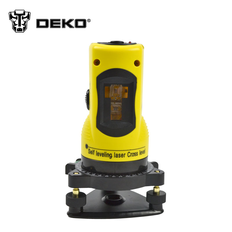 DEKO New Professional 2lines laser level 360 rotary cross laser line leveling can be used with outdoor receiver