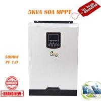 MPPT Solar Inverter 5000W 48V 220V 80A Off Grid Inverter Power Pure Sine Wave Inverter Solar Charger 60A Battery Charger