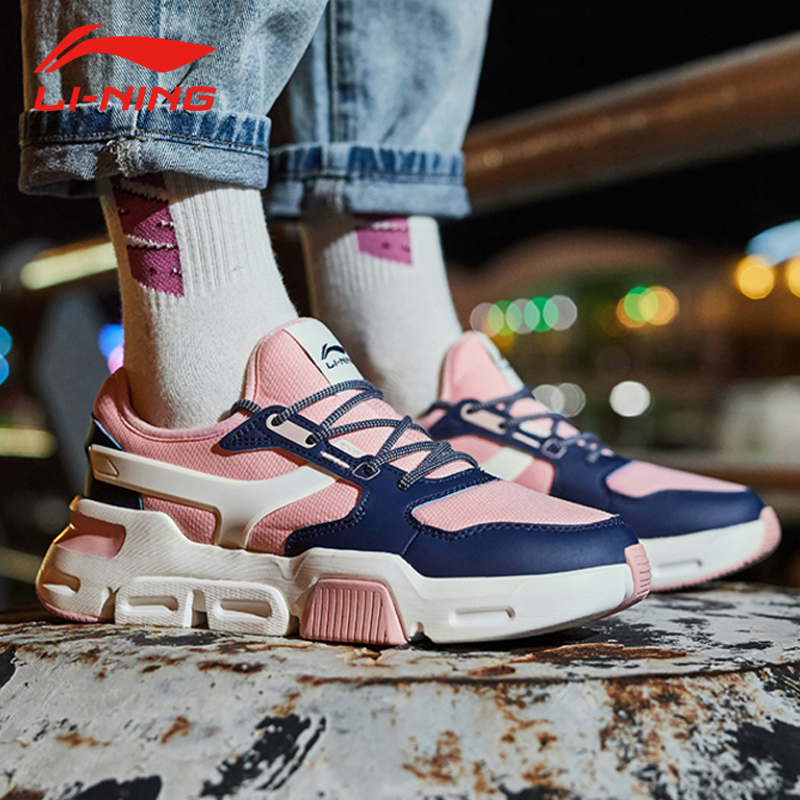 Li Ning Women s MARK Classic Walking Shoes Wearable Anti slip Support Retro Sneakers LiNing Sport