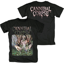 Bloodhoof Cannibal Corpse Brutal Death Metal degli uomini di T Shirt nera Formato Asiatico