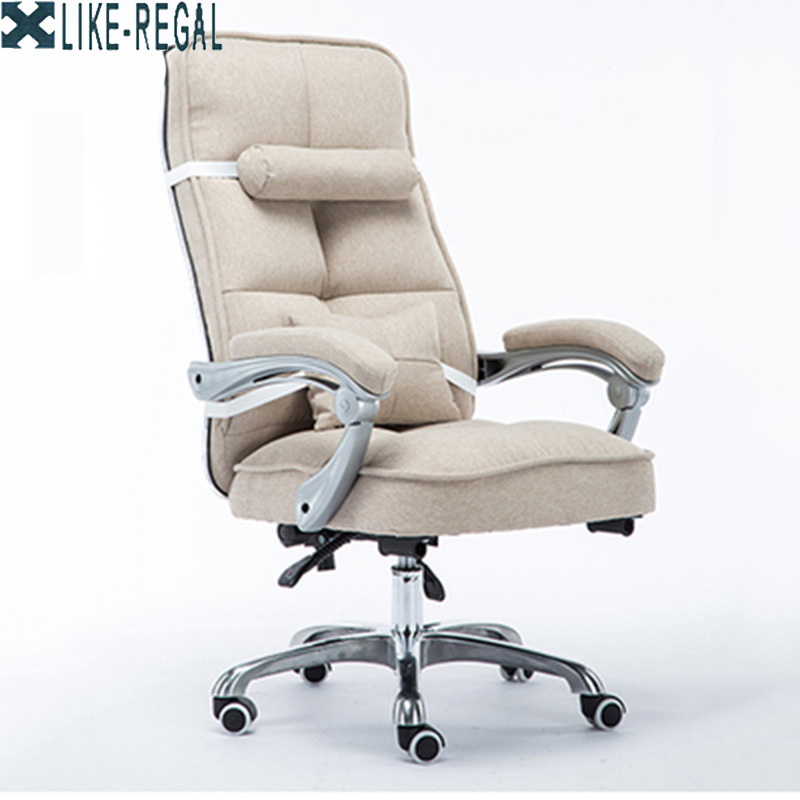 Компьютерный стул  домашнего босса Офисное кресло Откидной вращающийся стул Простой инженерный стул